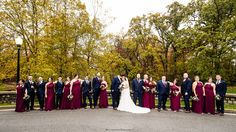 The wedding party at Aberdeen Manor and Ballroom.