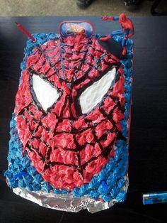 Spiderman birthday cake designed by Bunjorno homemade bakery