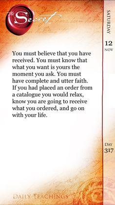 Believe. Receive.