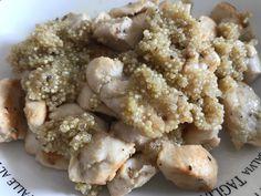Salteado de pollo al limón con quinoa