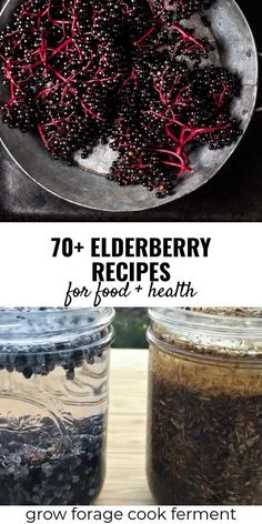 Elderberry Recipes & Remedies for Food & Health It's no secret that elderberries are a superfood with many undisputed health benefits! These tasty elderberry recipes will leave you with tons of ideas of how to use these immune-boosting wild berries. Elderberry Powder, Elderberry Plant, Elderberry Medicine, Elderberry Uses, Elderberry Juice, Elderberry Jelly Recipe, Elderberry Extract Recipes, Elderberry Syrup Recipe Without Honey, Essential Oils