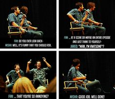 ''Do you ever look back...'' Misha Collins