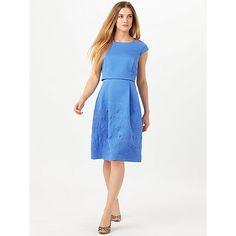 Buy Phase Eight Trixie Jacquard Dress, Kos Blue Online at johnlewis.com