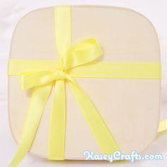 Lemon Yellow Ribbon, Satin, Double Faced, 1/2″ (12mm)