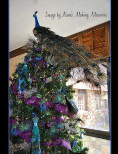 peacock christmas tree too far but good for the inspiration board - Peacock Christmas Tree Topper