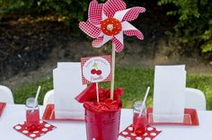 """Photo 5 of 17: Cherry Picnic / Birthday """"Camille's Cherry Themed Picnic Party"""" 