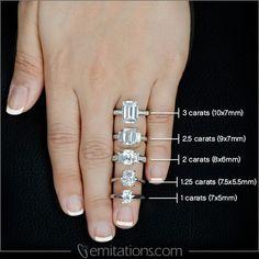 Emerald Step Cut Engagement Rings