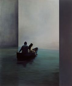 red-lipstick:  Tim Eitel (German, b. 1971, Leonberg, Germany) - Boat, 2004   Paintings: Oil on Canvas