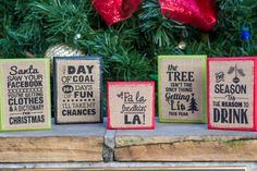 Humorous Holiday Plaques are a great Holiday Gift Idea, Secret Santa Gift, White Elephant Gift or Stocking Stuffer! Perfect for holiday decorating at your home or office!