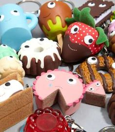 These Yummy Dessert Keychains Will Tease and Tempt Your Sweet Tooth - totally can redo these with clay.