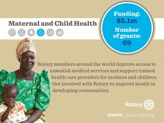 Rotarians support maternal and child health care that improves health for women, mothers, and children. #RotaryDay http://ow.ly/IXyux