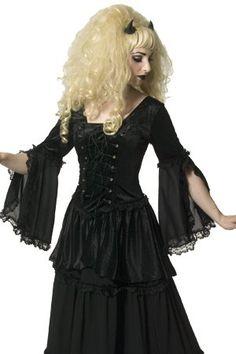 Ravette Black Velvet and Chiffon Gothic Top by Sinister