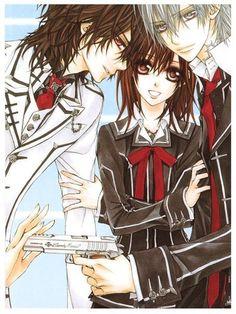 Yuki, Zero, and Kaname. -Vampire Knight