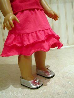free tute for making doll skirt from child's skort