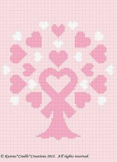 Breast Cancer Awareness Pink Ribbon Tree Graph Chart | eBay