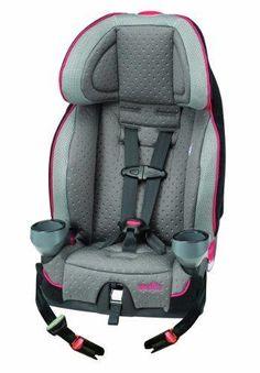 Evenflo SecureKid LX Harnessed Booster Car Seat Kohl Grey / Black / Red