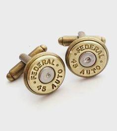 .45 Caliber Bullet Cufflinks
