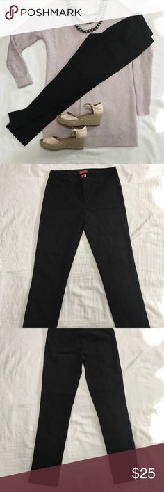 """Elle Straight Leg Ankle Pant Super gorgeous black ankle pant with fun paisley embroidery throughout 