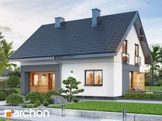 Dom w malinówkach 11 Micro House, Home Projects, Ideas Para, House Plans, Sweet Home, Garage Doors, New Homes, House Design, How To Plan