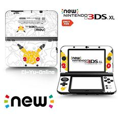 VINYL SKIN [new 3DS XL] – Pokemon 20th Anniversary Pikachu – Limited Edition STICKER DECAL COVER for NEW Nintendo 3DS XL / LL Console System – Pokemon Sticker
