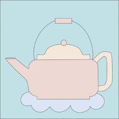 Teapot Quilt Block PDF