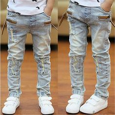 boys child jeans trousers spring and autumn summer light color thin child trousers male child casual skinny pants Kids Pants, Girls Jeans, Men Pants, Jeans Fabric, Fashion Leaders, Casual Jeans, Denim Jeans, Autumn Summer, Spring