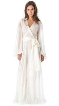 Honeymoon attire... Jenny Packham Long Robe  #MuslimWedding, #PerfectMuslimWedding, www.PerfectMuslim.com