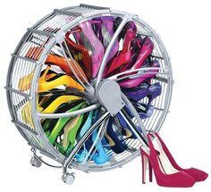 http://ift.tt/229PGFR Schuhregal der besonderen Art  Chrom look Schuhkarusell für 17 Paar Schuhe besonders praktisch modern und platzsparend! @buynowiili&