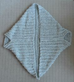 Easy Chunky Crochet Sweater   All About Ami------basically one giant square, sewn together in two lines. So easy!