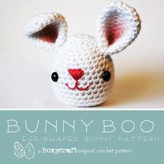 egg shaped bunny pattern