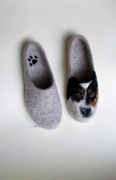 Lovely Wool slippers Modern Animal painting art Unisex adults custom made shoes