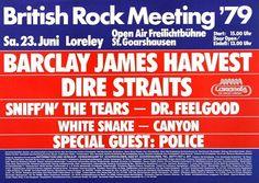 British Rock Meeting - British Rock 1979 - Poster Plakat Konzertposter