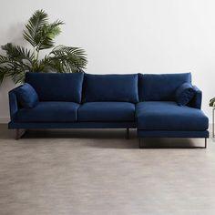 Lounge Sofa, Chaise Sofa, L Shaped Sofa Designs, L Sofas, Comfy Sofa, Girl Bedroom Designs, Home Room Design, Velvet Sofa, Upholstered Sofa