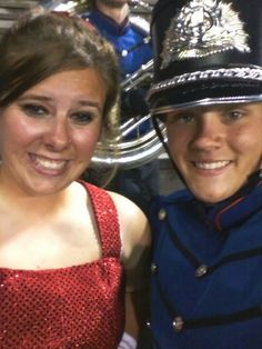Me and the drum major. Marching Governors!