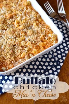 A kick of hot sauce and chicken gives a new twist to this old classic, Buffalo Chicken Mac 'n Cheese recipe at TidyMom.net
