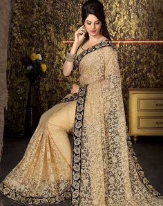 Latest Stylish Designer Party Wear Sarees For Women Net Saree Designs, Saree Blouse Designs, Fancy Sarees, Party Wear Sarees, Silk Sarees, Buy Designer Sarees Online, Sari Design, Latest Fashion Dresses, Indian Sarees Online