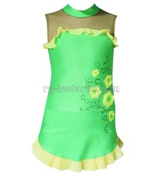 "Blade of Grass Gymnastics Leotard! Do you feel the smell of freshly mown grass? It is so alluring and tempting. You will occupy all judges' attention wearing the ""Blade of Grass"" leotard! #rhythmicgymnastics #leotard #sport #costume #fashion #新体操"