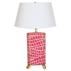 Dana Gibson Croc Small Table Lamp @LaylaGrayce