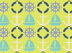 """SAILORS RETURN"" by clairyfairy. Bedding in organic cottons. Cushions in linens. Upholstery in heavy duty twill."