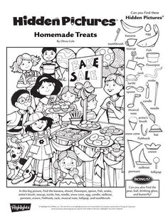 Hidden Picture Games, Hidden Picture Puzzles, Hidden Object Puzzles, Hidden Objects, I Spy Games, Math Games, Cool Coloring Pages, Coloring Sheets, Hidden Pictures Printables
