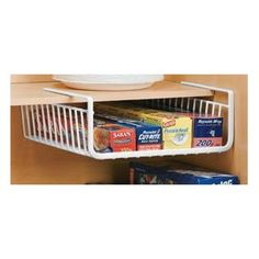 pantry organizer - Kitchen & Dining: Home & Kitchen Under Shelf Basket, Under Shelf Storage, Basket Shelves, Storage Shelves, Kitchen Storage, Dish Storage, Paper Storage, Storage Basket, Kitchen Pantry