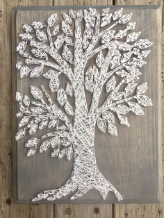 Tree String Art Tree Gifts Nature Gifts Nail And String