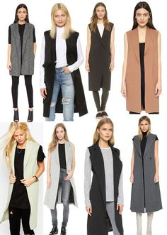 6eed6bb4330 DiY duster vests sleeveless coats jackets for fall. Sleeveless JacketSleevless  BlazerSleeveless ...
