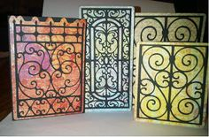 Crafty Scentiments: Cricut Ornamental Iron Cards & Video