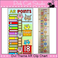 Owl Theme Accelerated Reader (AR) Clip Chart - Back to Sch