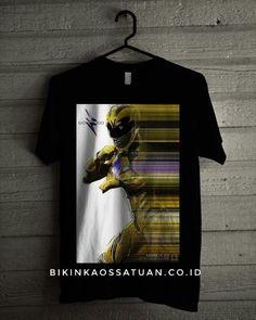 Kaos Yellow Power Ranger - Bikin Kaos Satuan