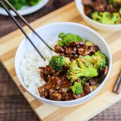 Slow Cooker Beef & Broccoli - Little Sunny Kitchen