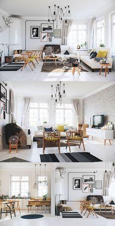 luxury scandinavian living room