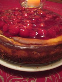 Cherry Cheesecake - Moore or Less Cooking Food Blog