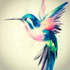 hummingbird tattoo & hummingbird tattoo & hummingbird tattoo with flowers & hummingbird tattoo small & hummingbird tattoo meaning & hummingbird tattoo black & hummingbird tattoo watercolor & hummingbird tattoo in memory & hummingbird tattoo for men Tattoo Hummingbird, Watercolor Hummingbird, Watercolor Bird, Watercolor Tattoos, Watercolor Images, Body Art Tattoos, New Tattoos, Small Tattoos, Sleeve Tattoos